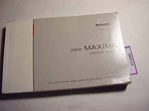 2006 nissan maxima owners manual nissan amazon com books rh amazon com 1994 Nissan Maxima 1995 Nissan Maxima