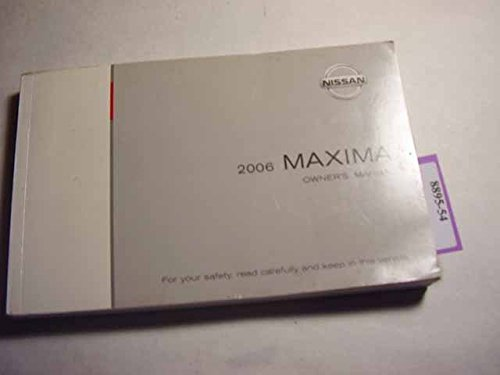 2006 Nissan Maxima Owners Manual