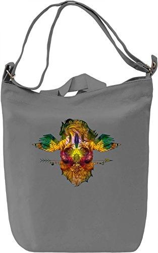 Dead Skull Borsa Giornaliera Canvas Canvas Day Bag| 100% Premium Cotton Canvas| DTG Printing|