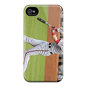 Scratch Protection Hard Cell-phone Case For Iphone 4/4s With Customized Nice Washington Nationals Series JamieBratt