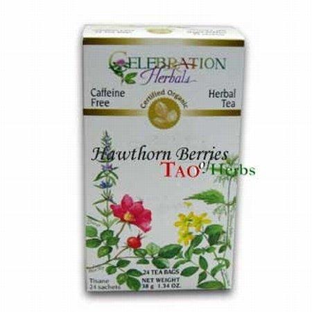Hawthorne Berries 24 Bags (Celebration Herbals Teabags Herbal Tea Hawthorne Berries Organic -- 24 Herbal Tea Bags)