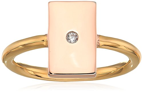 Jules Smith Womens Mixed Shape Ring, Gold/Rose Gold/Clear, 7 ()