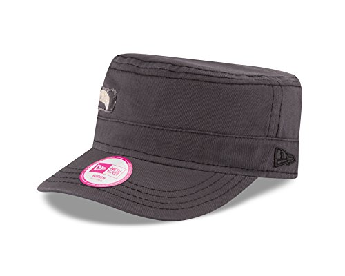 (MLB Pittsburgh Pirates Women's Major Chic Adjustable Military Cap, One Size, Graphite)