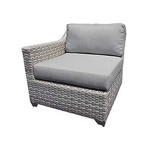 TK Classics Fairmont Right Arm Sofa, Grey