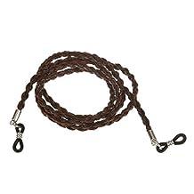 MagiDeal PU Sunglass Neck Cord Strap Sports Eyeglass Chain Holder - Brown