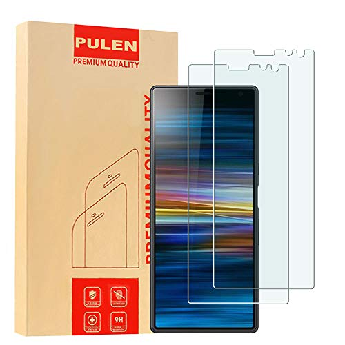 [2 Pack] PULEN for Sony Xperia (10 Plus) Screen Protector 2019,HD Anti-Fingerprints Bubble Free 9H Tempered Glass for Sony Xperia 10 Plus 6.5'' (Best Xperia Phone 2019)