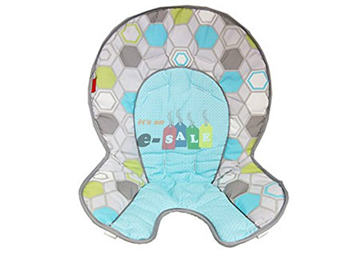 Fisher Price SpaceSaver High Chair Replacement Pad (DRF69 Blue Shapes Space Saver)