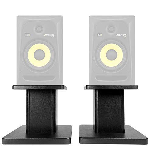 """Rockville 8"""" Black Studio Monitor Speaker Stands For KRK ROKIT 6 G3 Monitors"""
