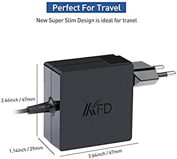 KFD 65W 45W DC 19V Alimentatore pc ASUS Caricatore per ASUS Zenbook 14 15 Vivobook S14 S15 A512 F540l F541u F553m F556u S432 UX32a UX305 UX310u UX333 UX334 UX433 X540s X542u X543u TP412 PC Portatile