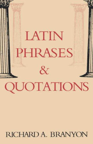 Latin Phrases & Quotations (English and Latin Edition) by Brand: Hippocrene Books