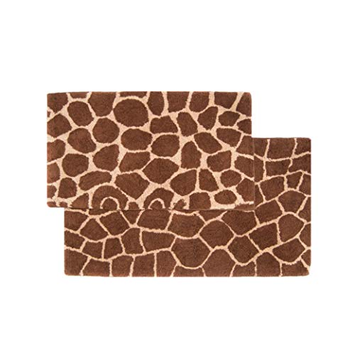 2-Piece Giraffe Bath Rug Set