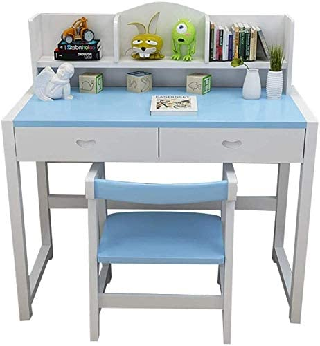 Escritorio niños Los niños escritorio, mesa de estudio de los niños y Juego de sillas ajustables Childs turística escritorio de madera Estantería de lectura Escritorio del estudiante Escritorio HIZLJJ: Amazon.es: Hogar