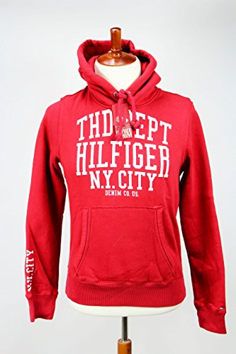 Tommy Hilfiger 1957801892 Red Hoodie Men's Sweatshirt, S