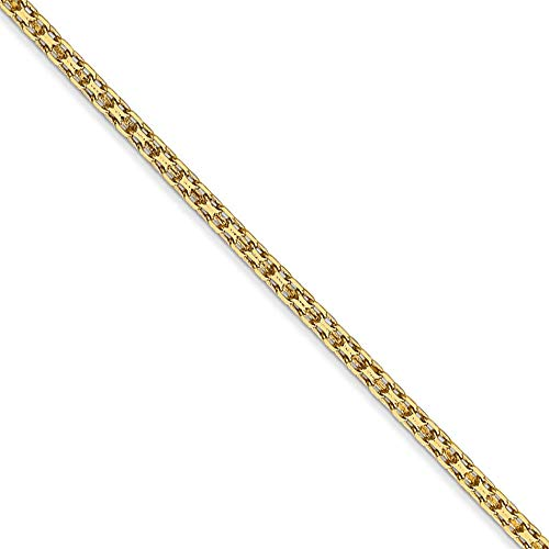 (2mm, 14k Yellow Gold, Flat Bismark Mesh Chain Necklace, 16 Inch)