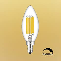 CRLight 700LM Dimmable LED Candelabra Bulbs 6W 270