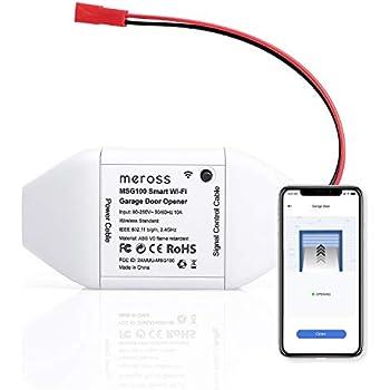 Meross Smart Wi Fi Garage Door Opener App Control