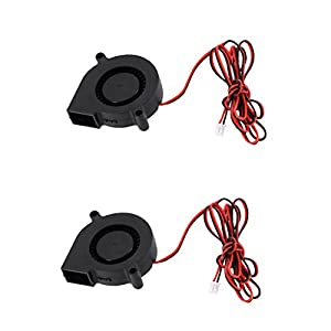 MagiDeal 2Pieces Ultra-silent Radial Turbo Blower Fan Cooling Fan DC 24V for 3D Printer Parts by MagiDeal