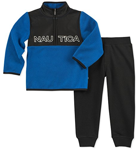 Nautica Sets (KHQ) (RJ7QG) Kids and Baby 2 Pieces Pullover Pants, Blue/Black, 4