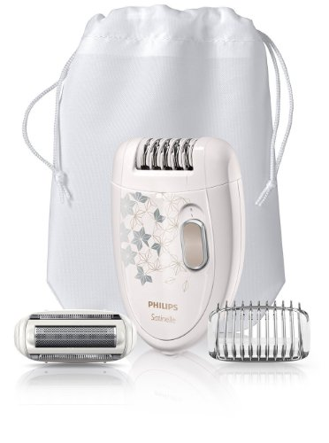 Philips Hp6423/00 Satinelle Corded Epilator + Ladyshaver Head + Trimming Comb Fast...