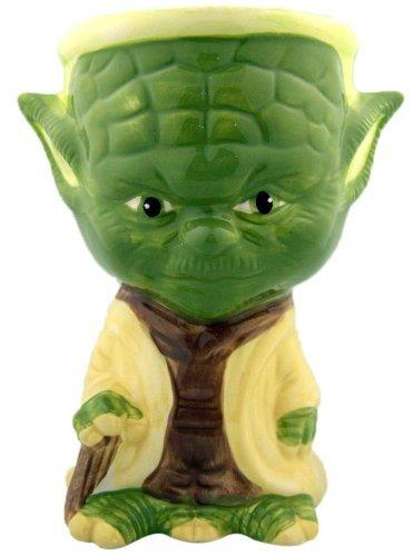 "NEW Painted Rare STAR WARS Collectible Ceramic Mug Cup Gift Yoda Goblet 5 3/4"""