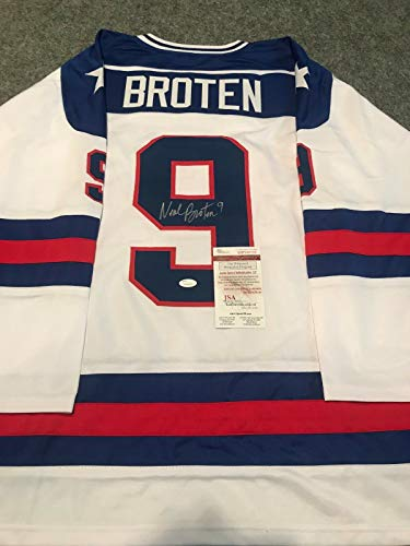 NEAL BROTEN AUTOGRAPHED SIGNED 1980 USA HOCKEY MIRACLE ON ICE JERSEY JSA COA (Usa 1980 Jersey Autographed Hockey)