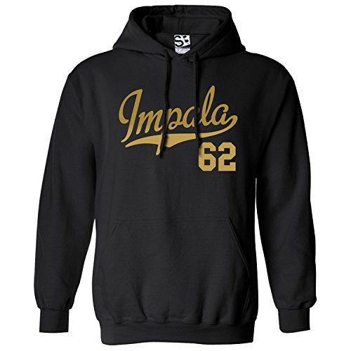 Shirt Boss Unisex Impala 62 Script & Tail HOODIE XL Black / Met Gold (Impala 62)