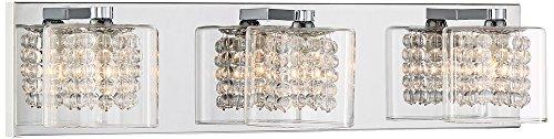 Possini Euro Coco 3-Light 20 1/2 W Chrome Bath Light Possini Euro 3 Light