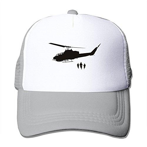 LKSJSADJ Army Helicopter Pickup Military Wall Adjustable Hats Ash