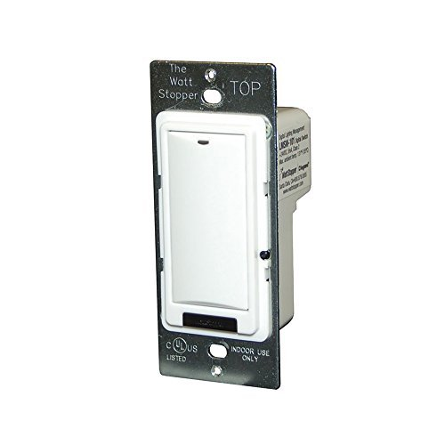 Wattstopper LVSW-101-W 1 Button Low Voltage Wall Switch 24 Volt DC ()