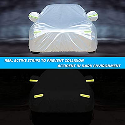 WOKOKO Car Cover, Waterproof SUV Car Covers 6 Layers All Weather UV Protection Windproof Snow-Proof Dust-Proof Scratch Resistant Universal Full Car Cover Fit for SUV, Sedan, Jeep, XL(190''-201''): Automotive