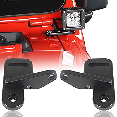 u-Box Jeep Wrangler JL 18-19 A-Pillar Light Mounting Brackets-Pairs: Automotive