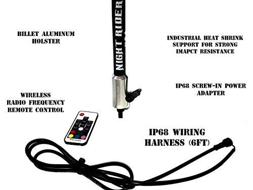 night rider usa  u2014 illuminati 6 u2032 rgb led lighted whip