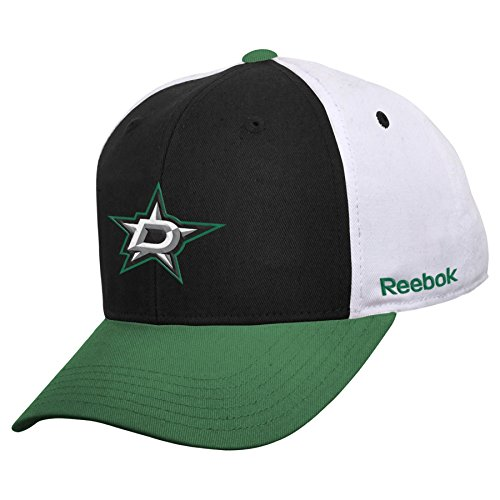 NHL Dallas Stars Boys 8-20 Color Block Adjustable Cap, Kelly, One Size
