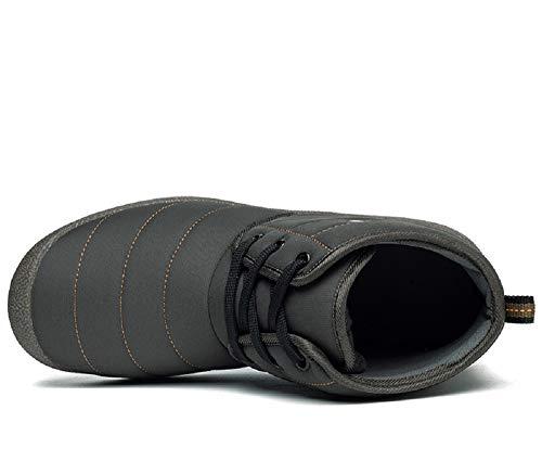Caviglia Hafiot 2 Blu Stivaletti 48 Caldo Antiscivolo Alte Alta Donna Pelliccia Invernali 36 Scarpe Sneakers Marrone Neve da Uomo Giallo Stringate Pantofole Grigio BzrqB