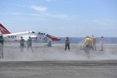 Sailors Prepare To Launch A T 45C Goshawk From The Flight Deck Of The Aircraft Carrier Uss George H