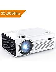 Vidéoprojecteur Crosstour Portable Mini Projecteur Home Cinéma 1080P Supporte LED 55000 Heures