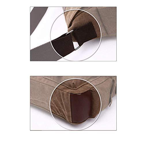 Multi Casual A Confezione Tracolla Coppia Uomo Coffee Borsa Pocket Da Yxpnu Street Canvas X1qAxA