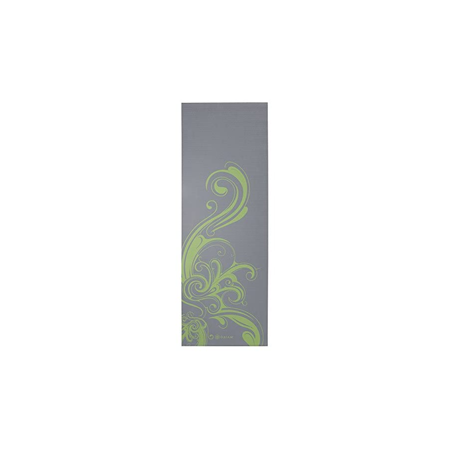 Gaiam Yoga Mat Classic Print Non Slip Exercise & Fitness Mat for All Types of Yoga, Pilates & Floor Exercises
