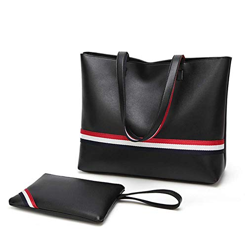 black Cuero Bolsa Pu Madre Jtsyhwomen Black Kits Unico De Dos Bolso 's v6FwRH