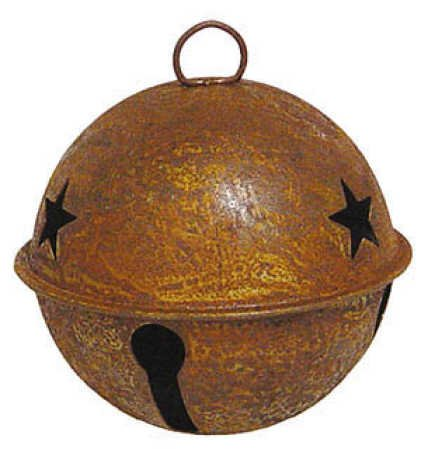 Package of 6 - 2.36'' (60mm) Rusty Tin Sleigh or Jingle Bell
