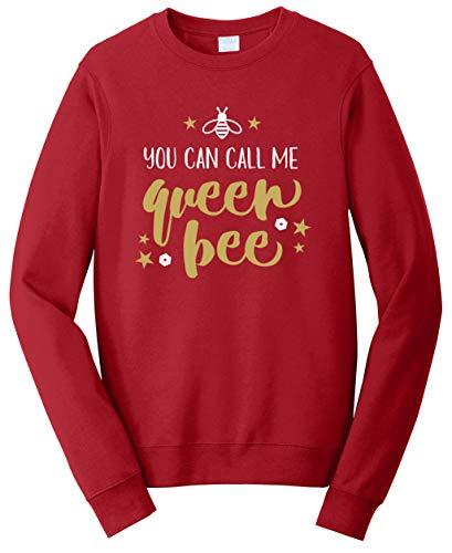 Tenacitee Unisex You Can Call Me Queen Bee Sweatshirt, 4X-Large, Cardinal Red from Tenacitee