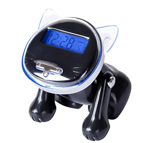 Led Talking Digital Alarm Clock Time Temperature Display,5 Funny Loud Rings,Blue Light & Snooze Function AAA for Adults/Kids/Heavy Sleepers Home & Office Black Looovehome