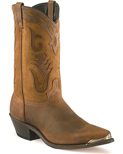 - Abilene Men's Sage by Distressed Western Boot Pointed Toe Brown 13 EE US