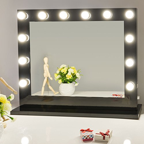 Chende Vanity Mirror with Light Hollywood Makeup Mirror Wall Mounted Lighted Mirror Free LED Bulbs (8065)