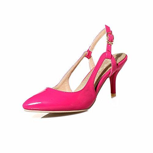 Schuhe Riemchenpumps Sandalen RFF Wies Shoes Absätzen Damen Leder Hohlen mit Pumps Ballerinas gules Geschlossene Stilettos Hohen Women's fP7qYPwU