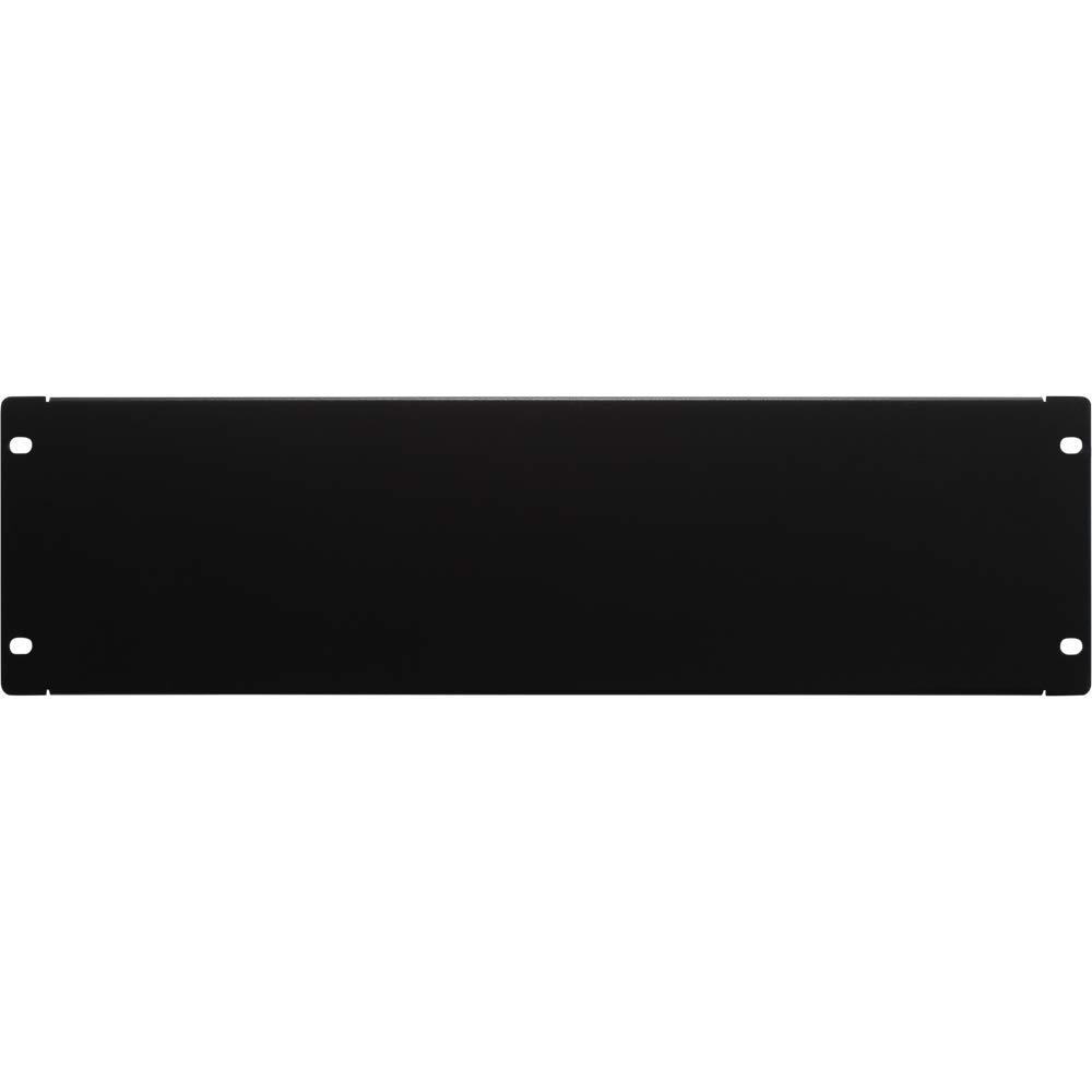 NavePoint 3U Blank Rack Mount Panel Spacer for 19-Inch Server Network Rack Enclosure Or Cabinet Black