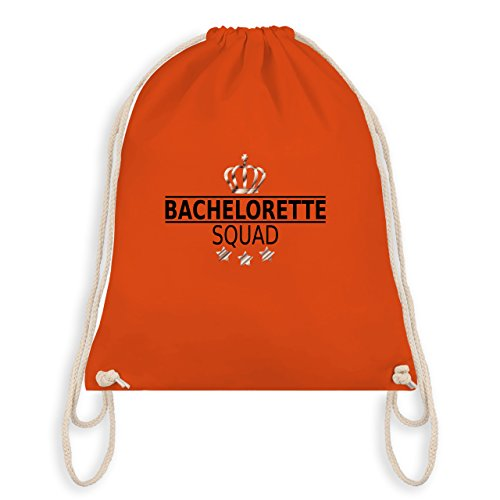 Shirtracer JGA Junggesellinnenabschied - Bachelorette Squad Krone - Turnbeutel I Gym Bag Orange