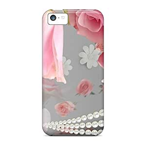 ElenaHarper Shockproof Scratcheproof More Pink Roses Hard Cases Covers For Iphone 5c