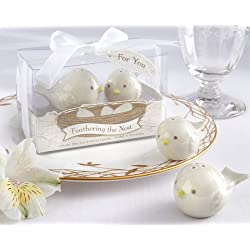 Feathering the Nest Ceramic Birds Salt and Pepper Shakers [SET OF 12]