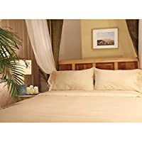 Sleep & Beyond 17-Inch Organic Cotton Sheet Set, California King, Ivory